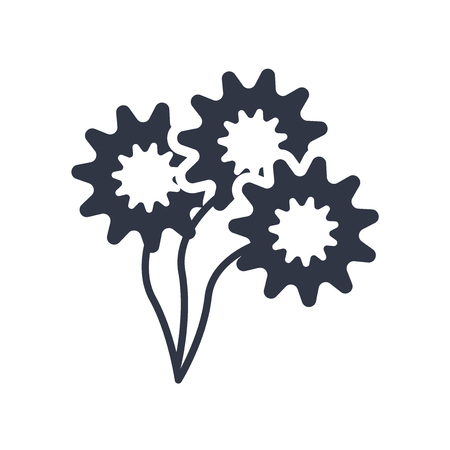 Daisy Bouquet icon vector isolated on white background for your web and mobile app design, Daisy Bouquet logo concept Illusztráció