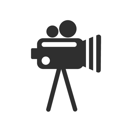Video camera icon vector isolated on white background for your web and mobile app design, Video camera logo concept