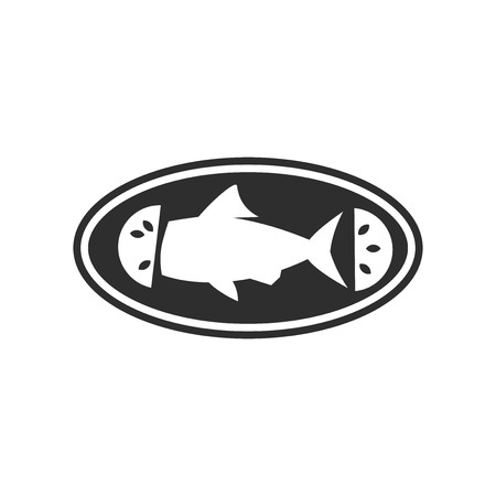 Cooked fish icon vector isolated on white background for your web and mobile app design, Cooked fish logo concept