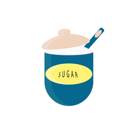 Sugar icon vector isolated on white background for your web and mobile app design, Sugar logo concept
