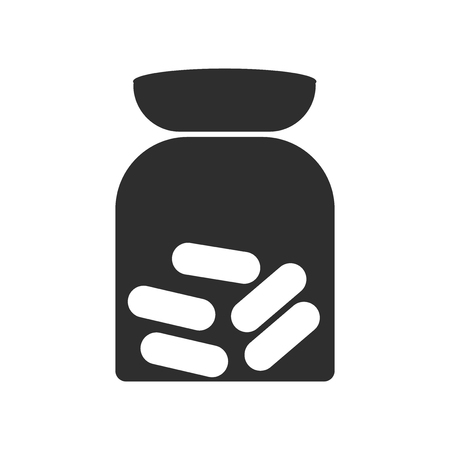 Pills icon vector isolated on white background for your web and mobile app design, Pills logo concept
