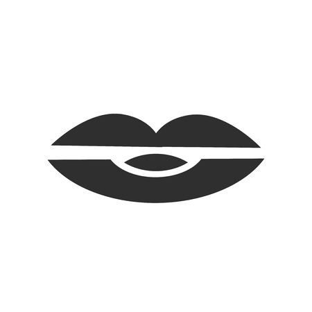 Lips icon vector isolated on white background for your web and mobile app design, Lips logo concept