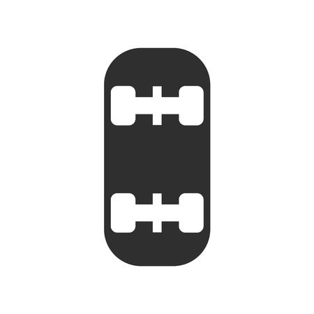 Vector icono de patineta aislado sobre fondo blanco Ilustración de vector