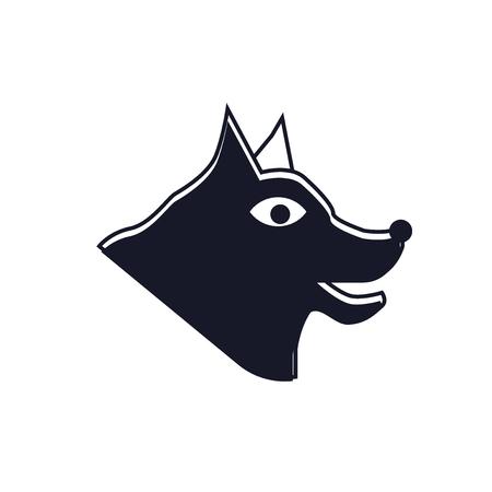 Canine icon vector isolated on white background Illustration