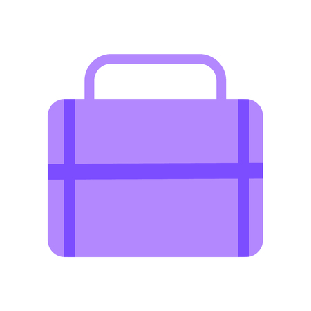 Portfolio icon vector isolated on white background for your web and mobile app design, Portfolio logo concept Vettoriali