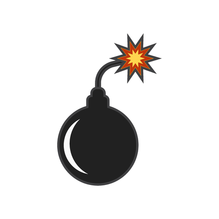 Bomb icon vector isolated on white background for your web and mobile app design, Bomb logo concept