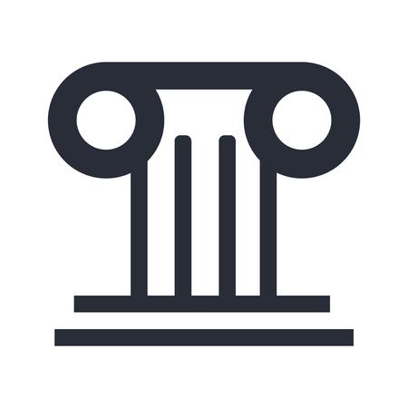 Griekse kolom pictogram vector geïsoleerd op een witte achtergrond voor uw web en mobiele app design, Griekse kolom logo concept