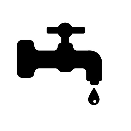 Water tap icon vector isolated on white background for your web and mobile app design, Water tap logo concept