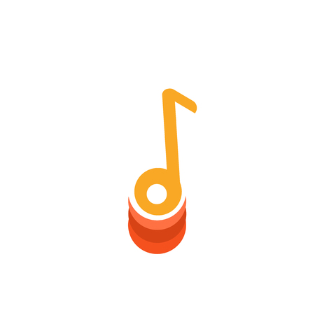 Music player icon vector isolated on white background for your web and mobile app design, Music player logo concept Vettoriali