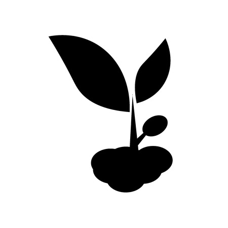 Growing Plant icon vector isolated on white background for your web and mobile app design, Growing Plant logo concept Vectores