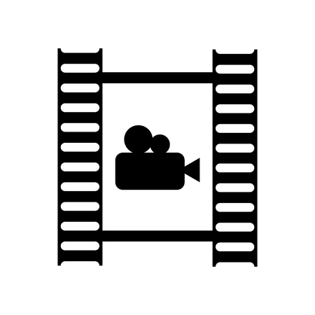 Film roll icon vector isolated on white background for your web and mobile app design, Film roll logo concept