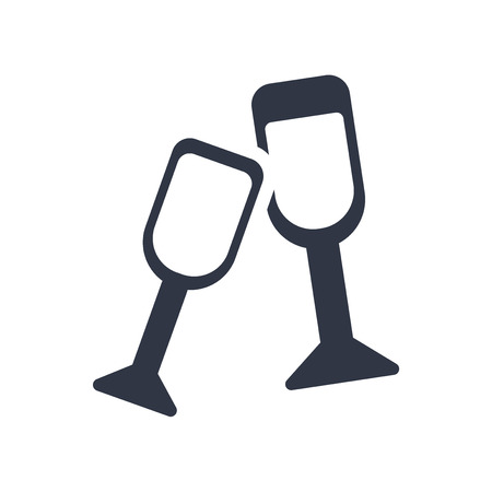 Cheers icon vector isolated on white background for your web and mobile app design, Cheers logo concept