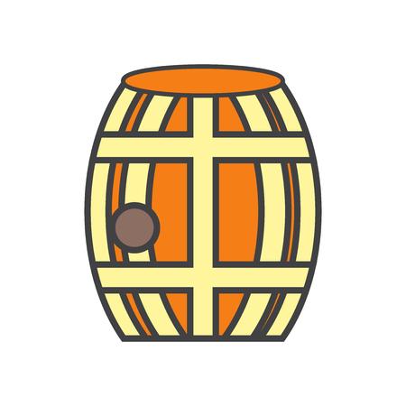 barril icono del vector aislado en el fondo blanco para su web y el menú de aplicaciones móviles símbolo de diseño de servicio