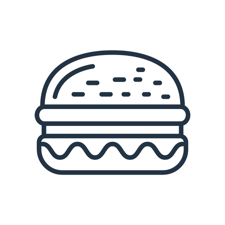 Burger icon vector isolated on white background, Burger transparent sign