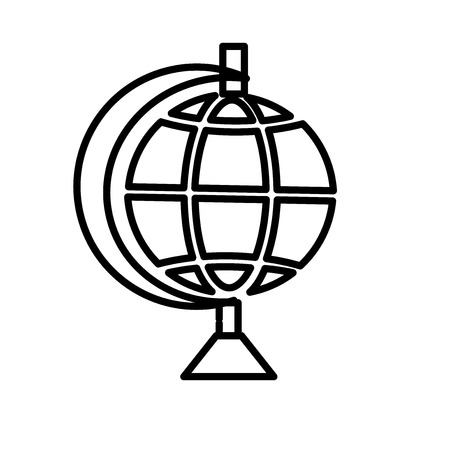 Globe icon vector isolated on white background, Globe transparent sign , line or linear sign, element design in outline style Illustration