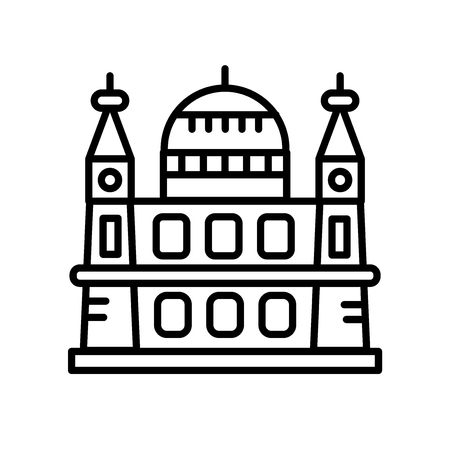 ST. Paul´s Cathedral icon vector isolated on white background, ST. Paul´s Cathedral transparent sign , line or linear sign, element design in outline style