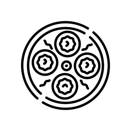 Dim sum wektor ikona na białym tle na białym tle, przezroczysty znak Dim sum