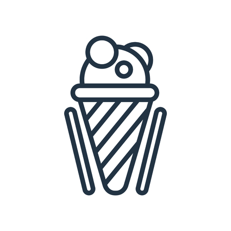Ice cream icon vector isolated on white background, Ice cream transparent sign