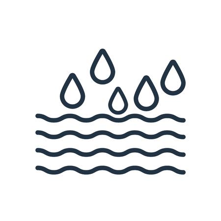 Wave icon vector isolated on white background, Wave transparent sign Ilustração