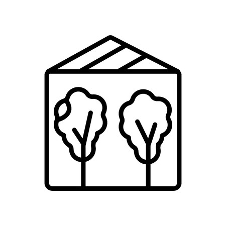 Greenhouse icon vector isolated on white background
