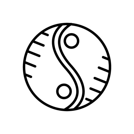 Yin yang icon vector isolated on white background, Yin yang transparent sign