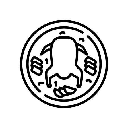 Vector icono de pato de Pekín aislado sobre fondo blanco, signo transparente de pato de Pekín