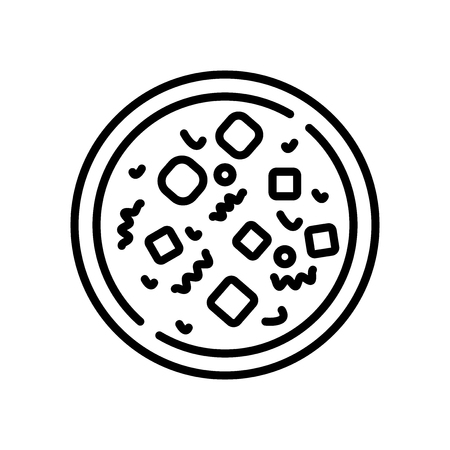 Mapo tofu icon vector isolated on white background, Mapo tofu transparent sign