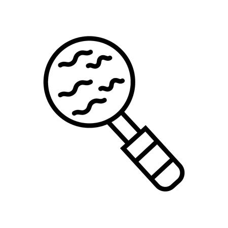 Loupe icon vector isolated on white background, Loupe transparent sign Illustration