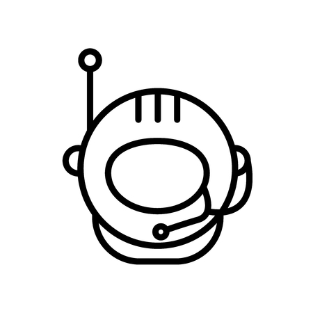 Astronaut icon vector isolated on white background, Astronaut transparent sign Illustration