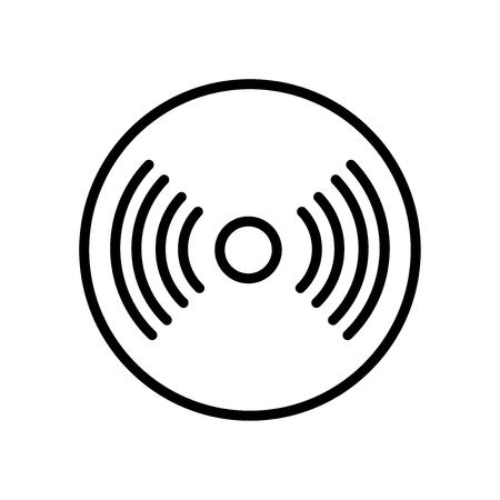 Vecteur d'icône de signal isolé sur fond blanc, signe transparent de signal