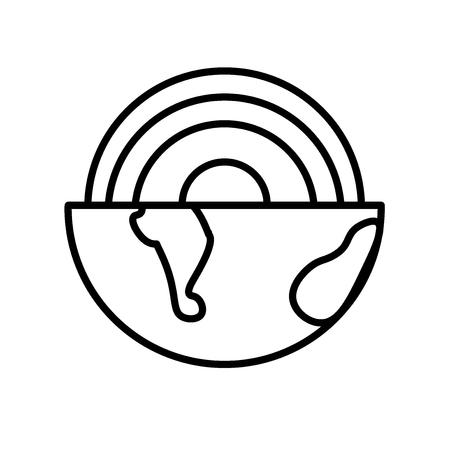 Vecteur d'icône géothermique isolé sur fond blanc, signe transparent géothermique, ligne ou signe linéaire, conception d'élément dans le style de contour