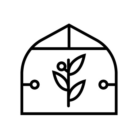 Greenhouse icon vector isolated on white background, Greenhouse transparent sign , line or linear sign, element design in outline style Stockfoto - 106937678