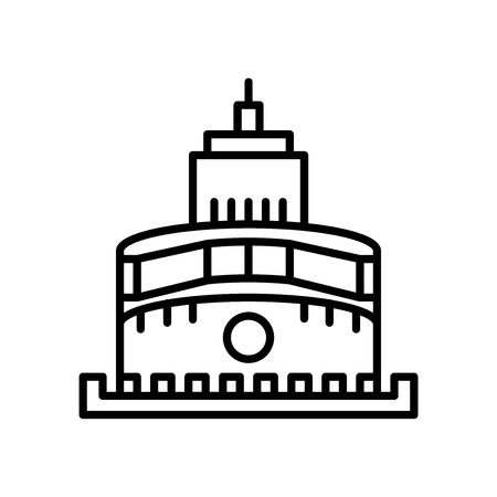 Castle of the Holy Angel in Rome icon vector isolated on white background, Castle of the Holy Angel in Rome transparent sign , line or linear sign, element design in outline style