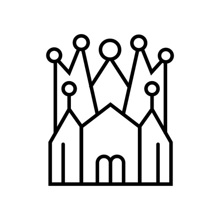 Church of the Holy Family icon vector isolated on white background, Church of the Holy Family transparent sign , line or linear sign, element design in outline style