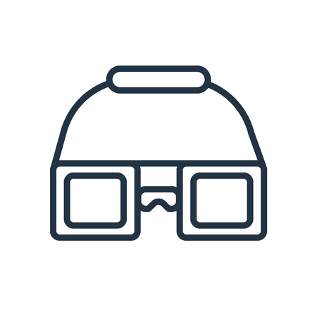 Goggles icon vector isolated on white background, Goggles transparent sign
