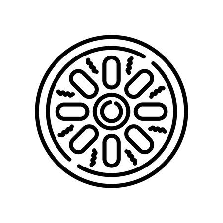 Mantou icon vector isolated on white background, Mantou transparent sign Illustration