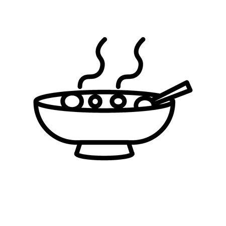 Soup icon vector isolated on white background, Soup transparent sign , line or linear sign, element design in outline style