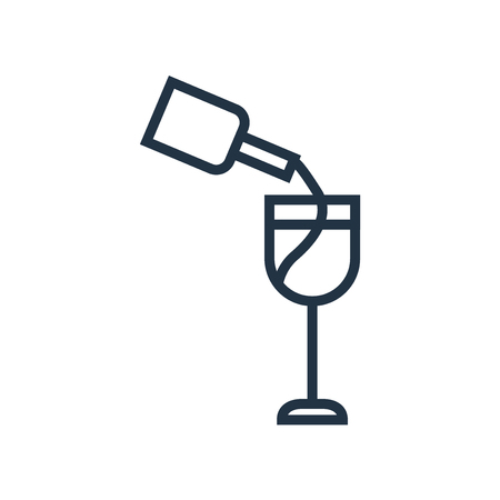 Wine icon vector isolated on white background, Wine transparent sign