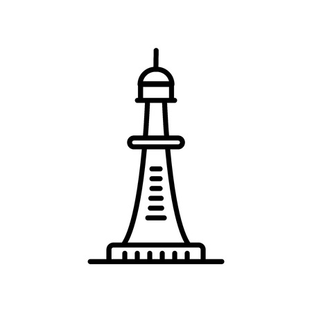 Smeaton's tower icon vector isolated on white background, Smeaton's tower transparent sign , line or linear sign, element design in outline style Stock Vector - 107322227