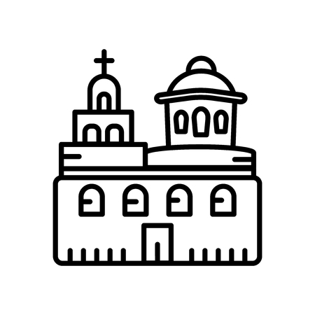 Blue Domed Churches icon vector isolated on white background, Blue Domed Churches transparent sign , line or linear sign, element design in outline style