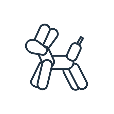 Balloon dog icon vector isolated on white background, Balloon dog transparent sign