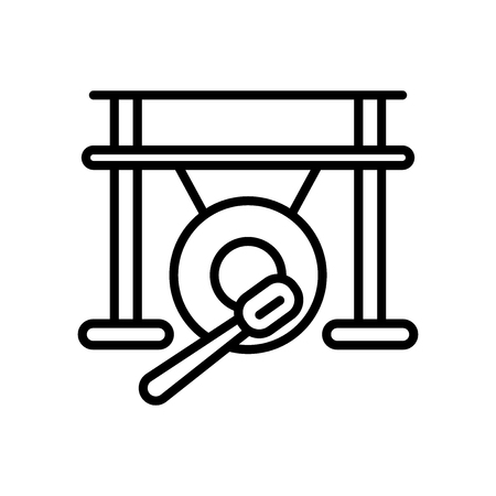 Gong icon vector isolated on white background, Gong transparent sign Illustration