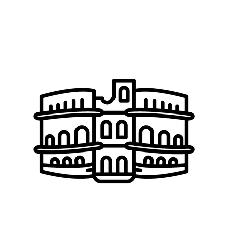 Pula Arena icon vector isolated on white background, Pula Arena transparent sign , line or linear sign, element design in outline style Vector Illustration