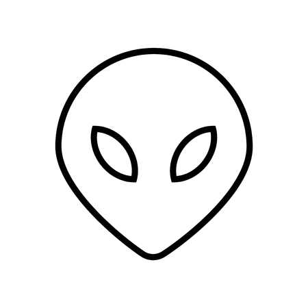 Alien icon vector isolated on white background, Alien transparent sign