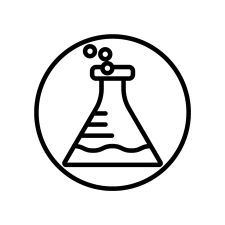 Flask icon vector isolated on white background, Flask transparent sign Ilustração Vetorial