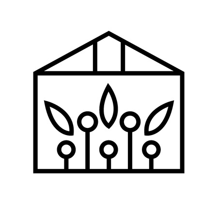 Greenhouse icon vector isolated on white background, Greenhouse transparent sign , line or linear sign, element design in outline style Stockfoto - 106915842