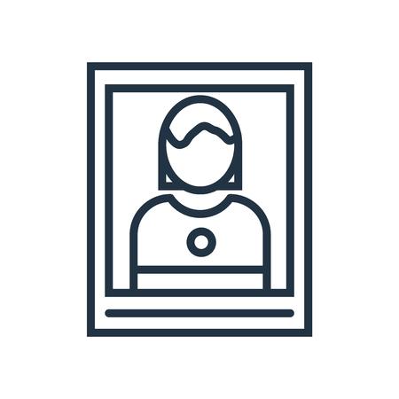 Vector icono de imagen aislado sobre fondo blanco, signo transparente de imagen