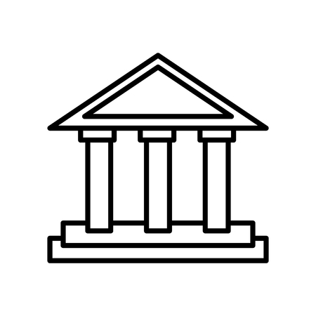 Parthenon icon vector isolated on white background, Parthenon transparent sign , line or linear sign, element design in outline style 版權商用圖片 - 111743974