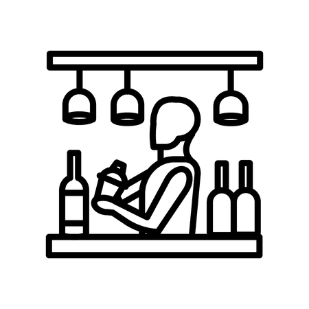 Bar icon vector isolated on white background, Bar transparent sign , line or linear sign, element design in outline style