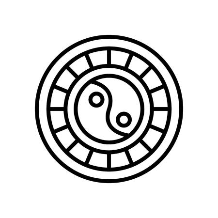 Horoscope icon vector isolated on white background, Horoscope transparent sign Illustration